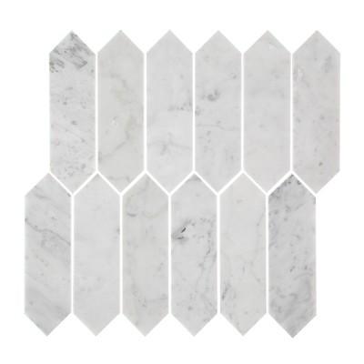 Carrara Picket Mosaic