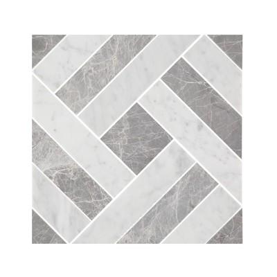 Carrara & Lightning Grey Diamond Mosaic