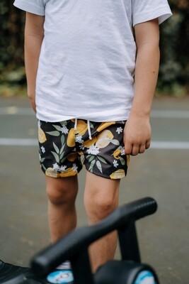 lemon blossom kids loose shorts