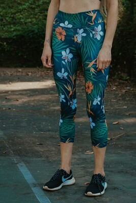 tropical 3/4 tights