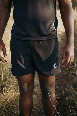 mens plain black shorts