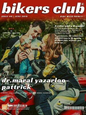 BIKERS CLUB-e-magazine-june 2019-Dr. Maral Yazarloo-Pattrick