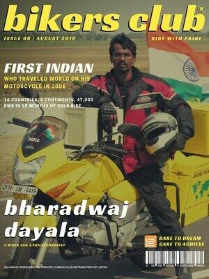 BIKERS CLUB-e-magazine-aug 2019-Bharadwaj Dayala