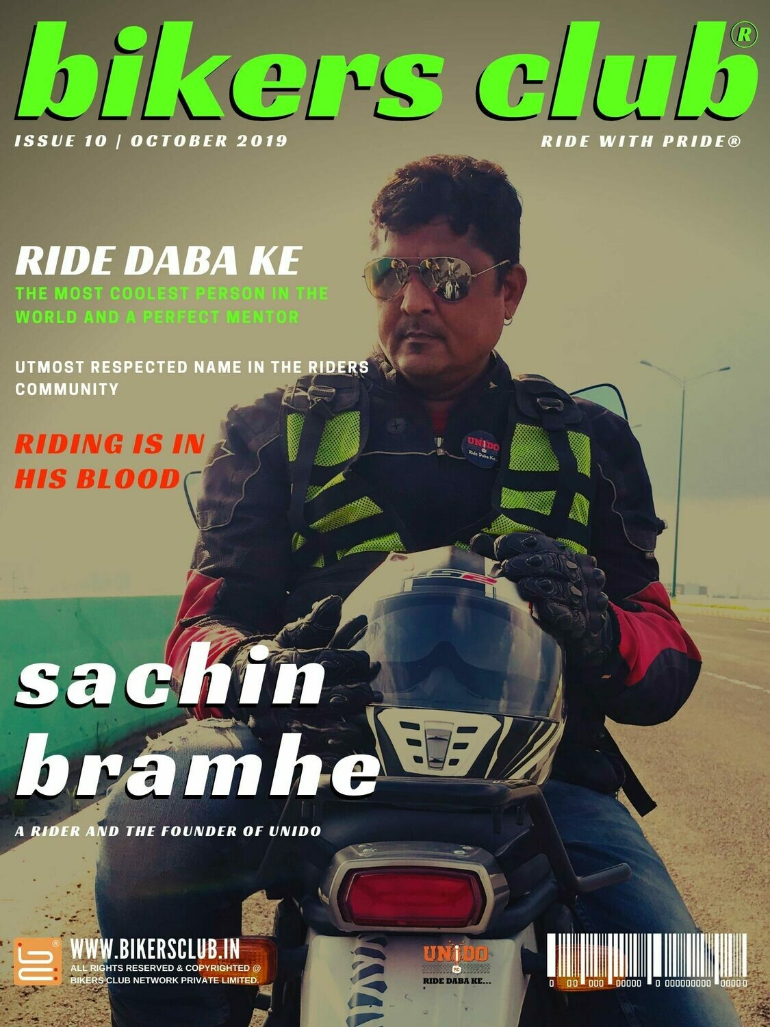 BIKERS CLUB-e-magazine-oct 2019-Sachin Bramhe