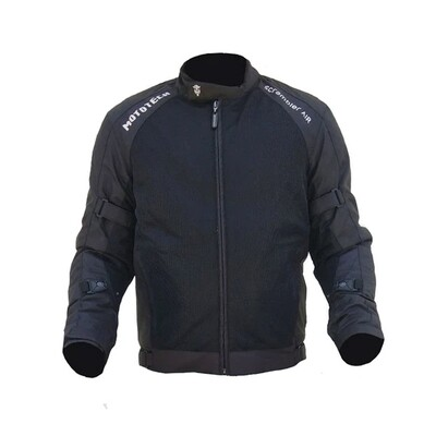 MotoTech Scrambler Air Motorcycle Riding Jacket - Black