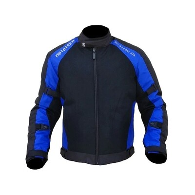 MotoTech Scrambler Air Motorcycle Riding Jacket - Blue