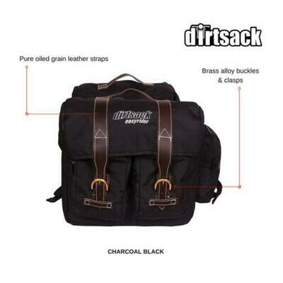 Dirtsack Longranger Easyrider Canvas Saddlebag - Black