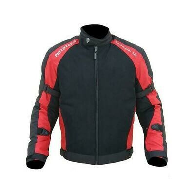 MotoTech Scrambler Air Motorcycle Riding Jacket - Red