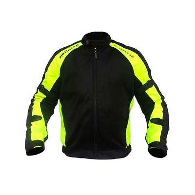 MotoTech Scrambler Air Motorcycle Riding Jacket - Fluorescent Green