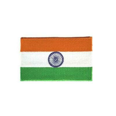 India Flag Patch - Embroidered with Coloured Borders