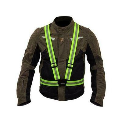 Quipco Flash Hi Viz Suspenders - Fluorescent Green
