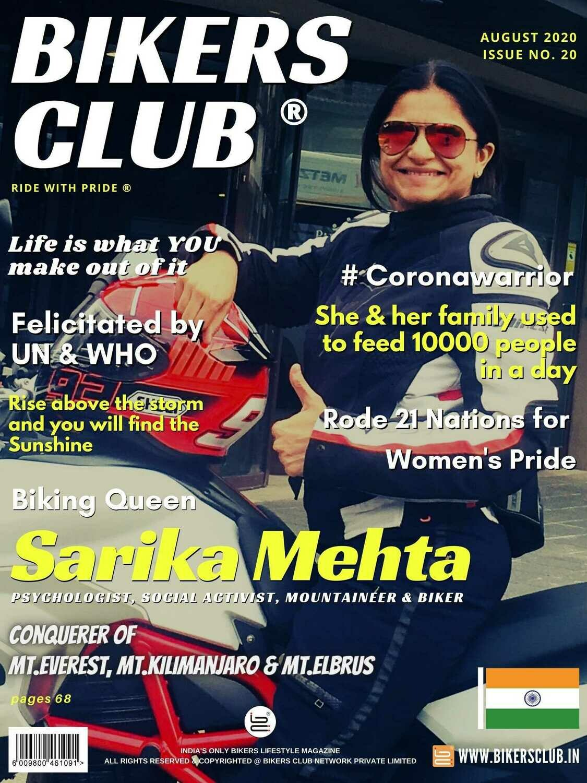 Bikers Club-magazine-August-2020-issue-Sarika Mehta