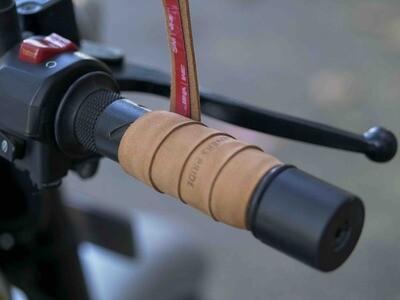 Leather Bike Handle Grips (Raw)