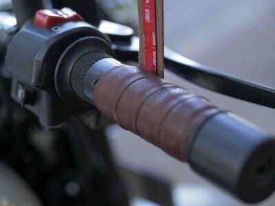 Leather Bike Handle Grips (Coco)
