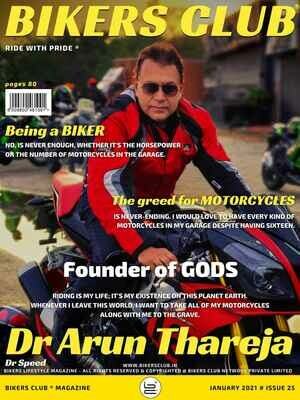 Bikers Club-e-magazine-January-2021-Dr Arun Thareja
