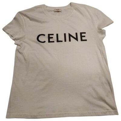 CELINE White Cotton Top