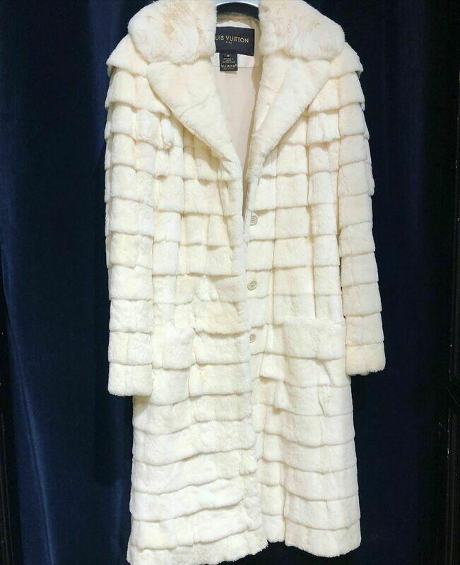 Louis Vuitton Chinchilla/Weasel coat