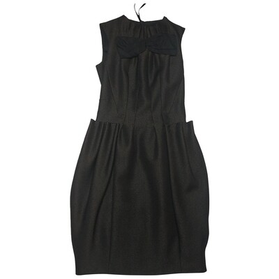 Louis Vuitton Wool mid-length dress with bow