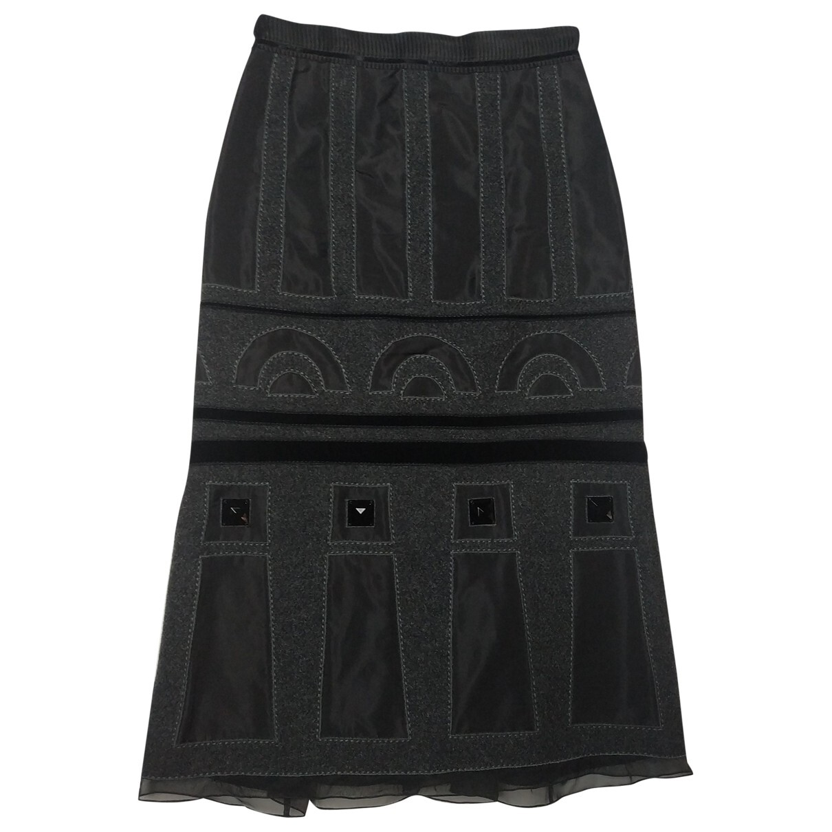 Louis Vuitton silk and wool mid-length skirt