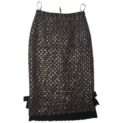 Louis Vuitton wool mid-length skirt