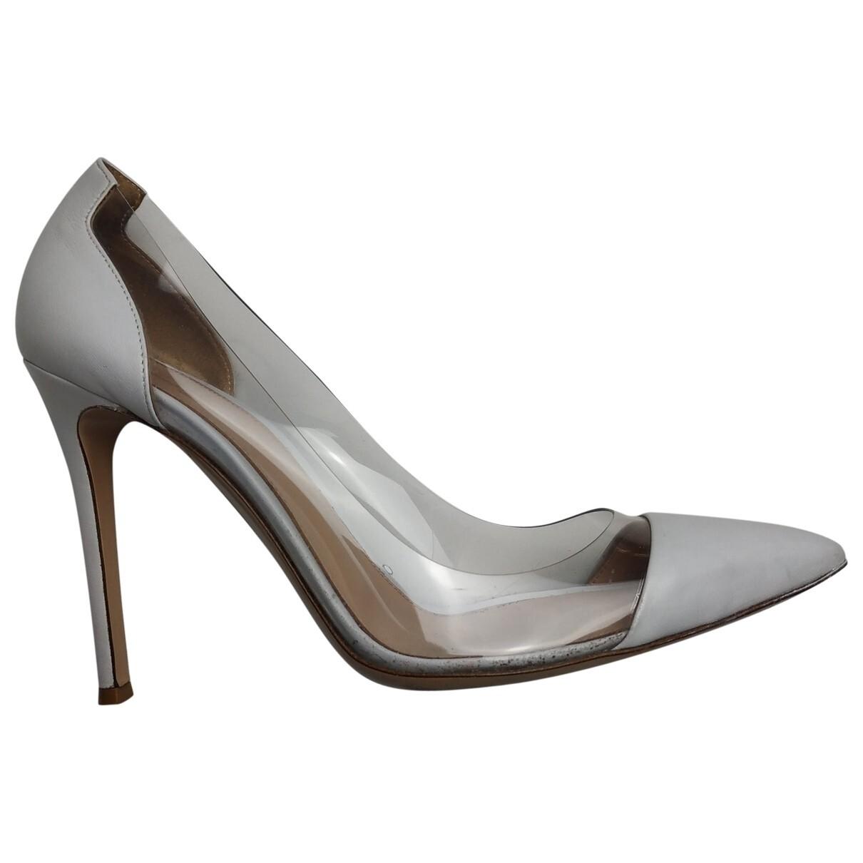 Gianvito Rossi Plexi leather heels