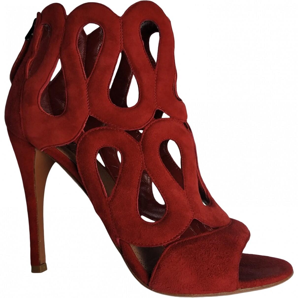 Alaïa suede sandals, size 37