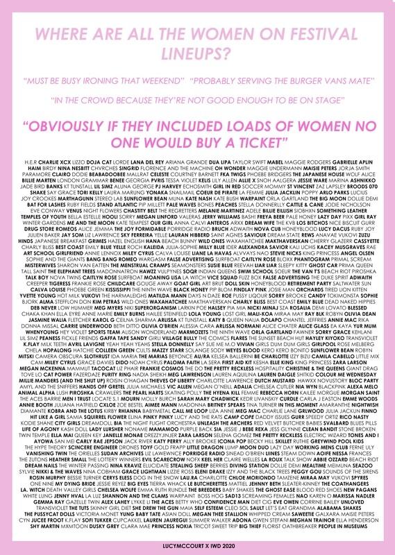 Lucy McCourt X International womens day 2020 poster