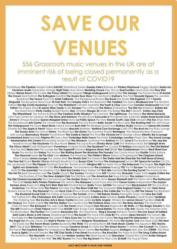 Lucy McCourt X Save Our Venues