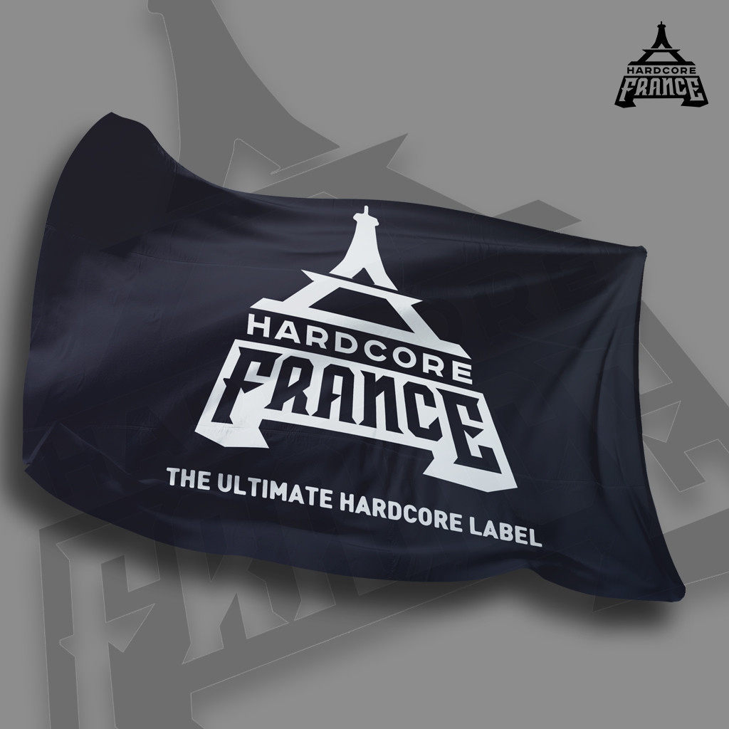 HARDCORE FRANCE FLAG
