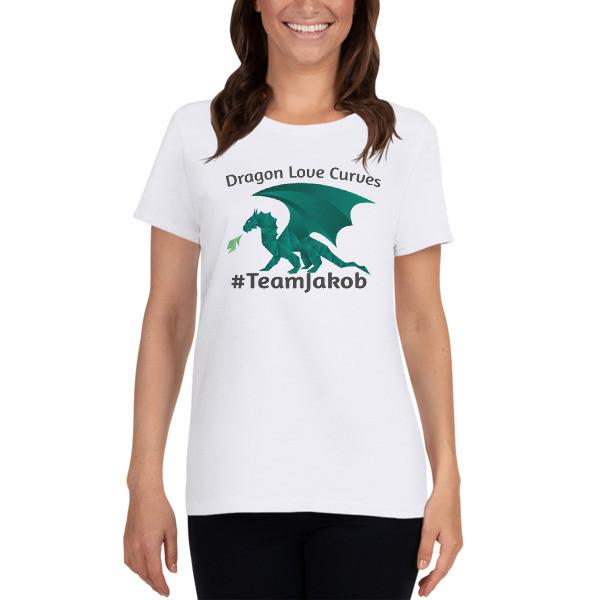 Dragons Love Curves - #TeamJakob Women's short sleeve t-shirt