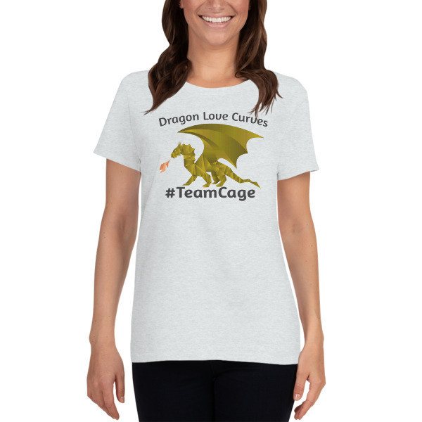 Dragons Love Curves #TeamCage Women's short sleeve t-shirt