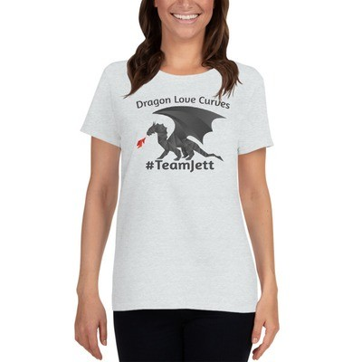 Dragons Love Curves - #TeamJett Women's short sleeve t-shirt