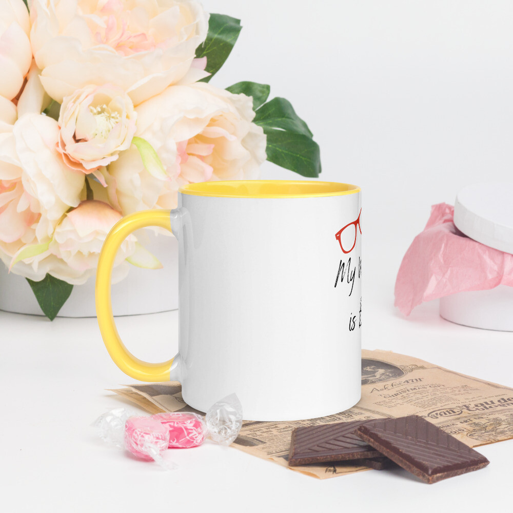 My weekend is BOOKED Mug with Color Inside