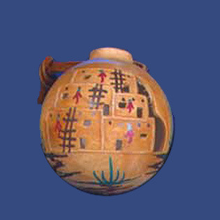 Ball with Carved Pueblo Design