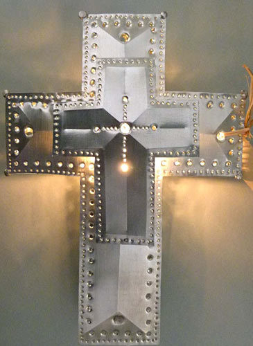 3 Dimensional Cross Lighted Treetop