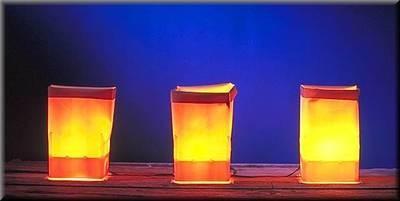 Electric Luminarias Set With LED Bulbs (Farolitos)