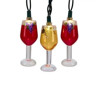 Wine Glasses Light Set