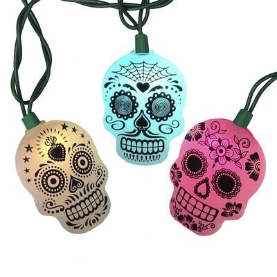 LED Color Changing Sugar Skull Light Set