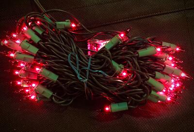 Red Incandescent 100 Light Set