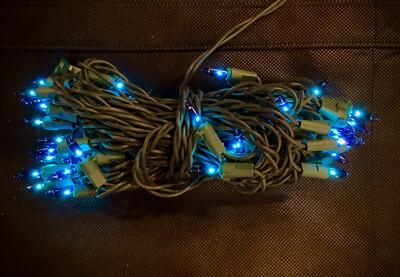 Blue Incandescent 50 Light Set