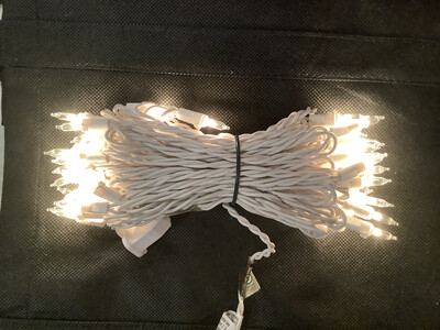 Clear White Incandescent 50 Light Set White wire