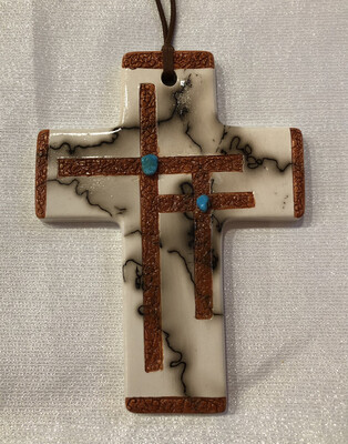 Cross With 2 Small Etched Crosses