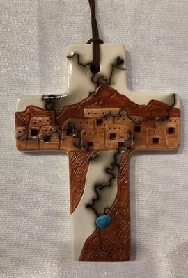 Cross With Pueblo Design
