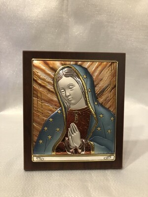 Our Lady of Guadalupe plaque 5""