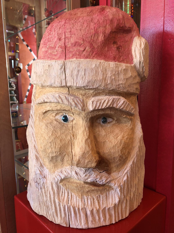 Carved Santa Head