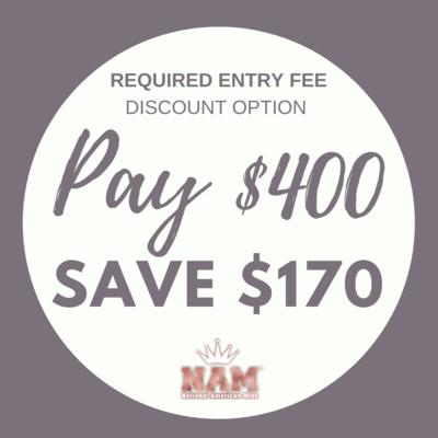 2021 Discount Option 3: $170 Discount