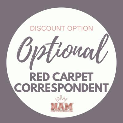 2021 Optional Red Carpet Correspondent Contest Discount