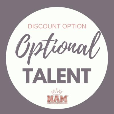 2021 Optional Talent Contest Discount