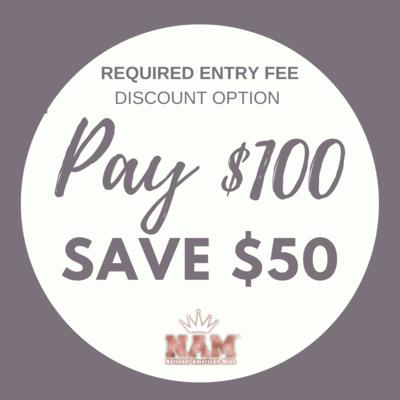 2021 Discount Option 2: $50 Discount