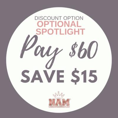 2021 Optional Spotlight Contest Discount